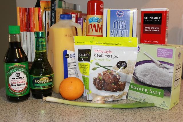 "Orange ""Beef"" & Broccoli Ingredients"