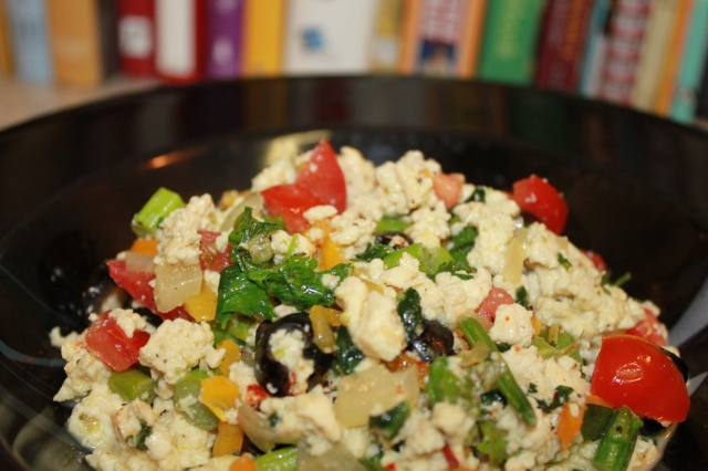 Tofu scramble with veggies